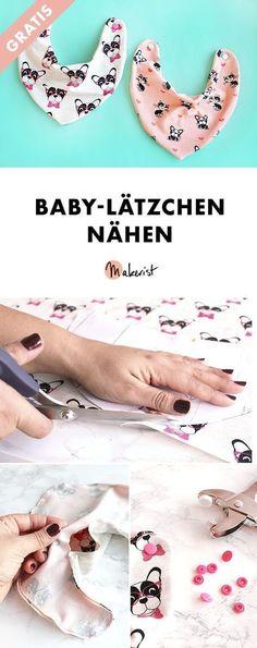 Baby-Lätzchen selber nähen - kostenlose Nähanleitung via Makerist.de #nähenmitmakerist #nähen #nähanleitung #schnittmuster #schnitt #pdfschnitt #pdfpattern #nähenmachtglücklich #nähenistwiezaubernkönnen #nähenisttoll #sewing #sew #sewingproject #sewingpattern #diy #diyproject #baby #lätzchen #nähenbabys #gratis #freebie