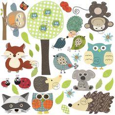 NEW Woodland animals Jungle Friends Wall Decals by DesignByMaya