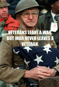 We must honor and praise our veterans. They sacrificed so much.