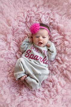 Baby Girls Heather Gray and Pink Clothes by BornFabulousNewborn