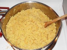 Saffron quinoa with shallots and lemon