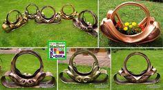 Foto: Lindo trabalho feito no pneu e montando essa floreira.  Conheça o blog do Fika a Dika http://beatriz13out.blogspot.com.br/
