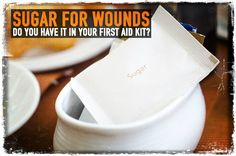 Sugar for Treating Wounds The following is for informational purposes only. The information provided is not medical advice, and should not be considered as such. Any wound, cut or abrasion has the potential of becoming infected if not treated promptly and effectively. Certain wounds that become infected can be serious leading to loss of limb …