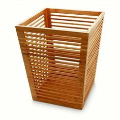 Papierkorb Abfalleimer, Home Office, aus natürlichem Bambus Holz