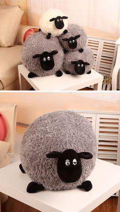 Lindo de pelúcia macia de pelúcia almofada caráter branco / cinza crianças brinquedo do bebê H0851 em Almofadas de Casa & jardim no AliExpress.com | Alibaba Group