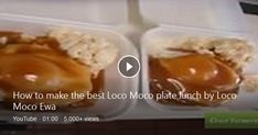 The best loco moco comes from well, Loco Moco Drive Inn. See the secret to making a real loco moco in this Loco Moco Ewa video. Also well known for their best selling . Loco Moco, Plate Lunch, Bing Video, Plates, Licence Plates, Dishes, Griddles, Dish, Plate