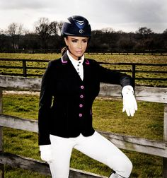 Katie Price Equestrian Show Jacket with Pink buttons, Riding Jackets