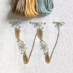 DIY pdf Crewel Embroidery Pattern Monogram W is by PrairieGarden