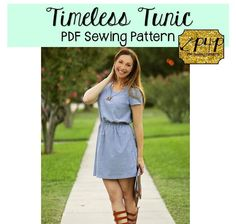 This pattern is drafted for non-stretch woven fabrics. Suggested fabrics are wovens with a soft drape such as rayon challis, viole, crepe, ect.  It is fitted at bust andat waist and semi-fitted at hipswith tons of options! This pattern can take you from summer to winter and create everyday casual to dressed up to go to the office or party! The blousen style means a flattering fit that highlights your smaller natural waistline and skims over belly and hip areas----so need to suck in all…