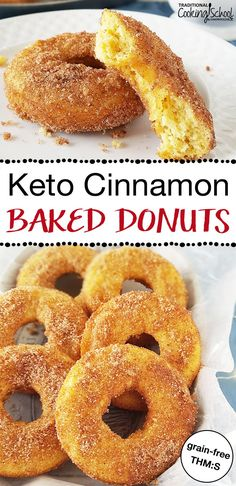 Hanukkah is famous for fried foods like donuts. Yet what if you're grain-free, keto, a Trim Healthy Mama, or just looking for an easy healthy treat? Traditional Hanukkah fare gets a makeover in this recipe: Keto Baked Cinnamon Donuts! Ketogenic Recipes, Low Carb Recipes, Cooking Recipes, Ketogenic Diet, Diet Recipes, Pork Recipes, Easy Recipes, Gluten Free Recipes For Kids, Cooking Games