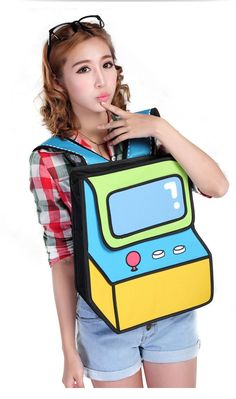 As kids we loved going to the arcade as it was always a special treat. No matter how many game systems we may have owned nothing beat playing games at the arcade and we'd like to give back to our friend the Arcade 2D Backpack. Simply a must have for any gamer fanatic who wants