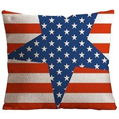 """DKISEE Vintage Style American Flag the Stars and the Stripes Throw Pillow Case Decorative Cushion Cover Pillowcase 18""""18"""""""