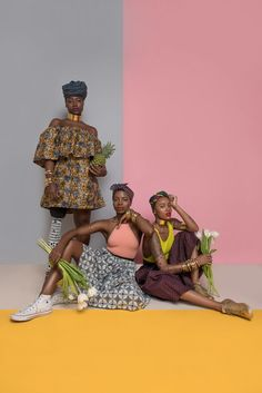 """islandboiphotography: """" """"Pineapple Squad 🍍🍍🍍"""" Words from – - Models: Headwraps/bandanas/dress/skirt/accessories: Stylist/Creative Director/Concept: Photographer:. Fashion Photography Inspiration, Photoshoot Inspiration, Editorial Photography, Black Power, Turbans, African Wear, African Fashion, Estilo Blogger, How To Pose"""