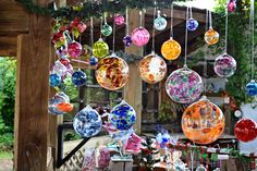 Glass ornaments, inspiration for a window display