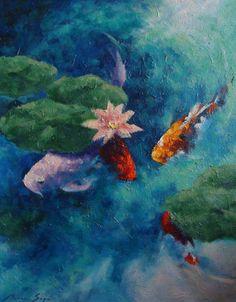 Sage Artworks – Koi with Flower