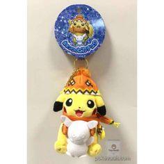Pokemon Center Sapporo 2016 Renewal Opening Snow Festival Campaign Pikachu Mascot Plush Keychain