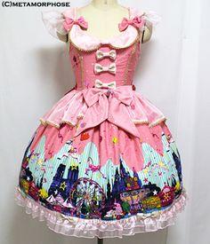 metamorphose temps de fille night carnival リボンジャンパースカート