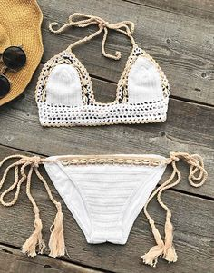 Live life on the beach~ It features crochet craft and shell ornament shape. Keep your style looking hot and fresh this season with this. Find more amazing pieces at Cupshe.com !