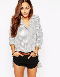 Abercrombie & Fitch Striped Boyfriend Shirt
