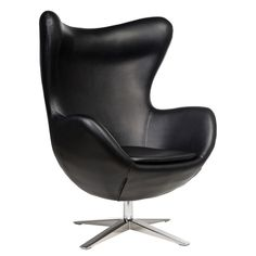 Egg Chair in Black Leather Grey Sofa Bed, 3 Seater Sofa Bed, Eileen Gray, Swivel Armchair, Sofa Chair, Arne Jacobsen Chair, Pink Desk Chair, Sofa Frame