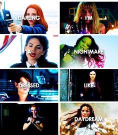 Natasha Romanoff, Pepper Potts, Agent Peggy Carter, Gamora, Agent Maria Hill, Wanda Maximoff, Sharon Carter, Lady Sif