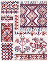 """FOLK EMBROIDERY PATTERNS of traditional Russian embroidery patterns! This pattern book is called: """"Collection of Large and Small Russian patterns for embroidery. Russian Embroidery, Folk Embroidery, Cross Stitch Embroidery, Embroidery Patterns, Tattoo Patterns, Cross Stitch Borders, Cross Stitch Charts, Cross Stitching, Cross Stitch Patterns"""