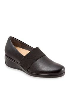 Trotters Black Marley Casual Slip On