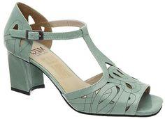 Sandália Retrô Sophia - Aqua Marine - 5931. MZQ calçados, Mazuque