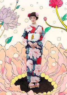 kimono furifu** *絵のさんこうになりるる.