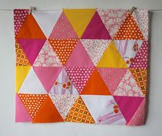 DIY: 60 Degree Angle Triangle Quilt Tutorial