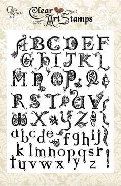 Crafty Secrets SL01 Artsy Alphabet -- Now THAT'S a fancy alphabet!