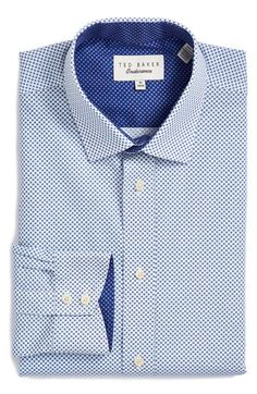 Ted Baker London Trim Fit Dot Dress Shirt available at #Nordstrom
