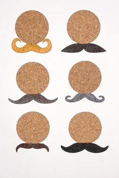 Love the mustache trend- that is on anything, but a man!!  Lol!!  How cute are these mustachio coasters!?!  Great gift for the mustache lover in your life!  [Mustache Cork Coasters]