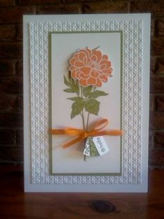 Pumpkin Pie Florets by Sarah B - Cards and Paper Crafts at Splitcoaststampers