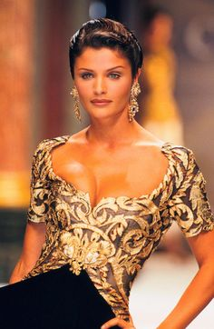 Leo - Helena Christensen for Christian Dior Haute Couture, Fall 1993. - http://www.simplysunsigns.com