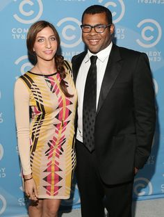 Pin for Later: Comedy Power Couples: 15 Pairs Whose Love Is Hilariously Sweet Chelsea Peretti and Jordan Peele