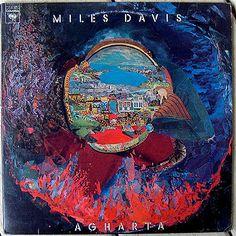 Miles Davis album cover art for Agharta