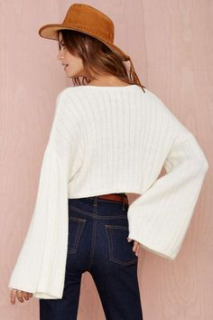 Nasty Gal Bells Out Crop Sweater - Pullover | Tops | Ashley | Madeline | Clothes | All