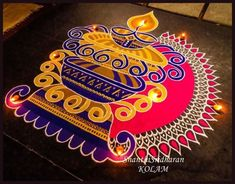 We have included beautiful diwali rangoli designs from shanthi's gallery. It's believed that rangoli designs started many centuries ago. Some refrences of rangoli designs are also available in our Easy Rangoli Designs Videos, Indian Rangoli Designs, Rangoli Designs Latest, Rangoli Designs Flower, Colorful Rangoli Designs, Rangoli Designs Images, Flower Rangoli, Beautiful Rangoli Designs, Mehndi Designs