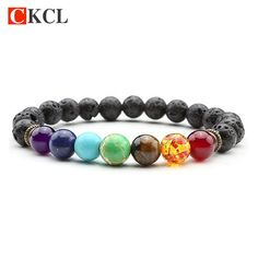 Check out our new New 7 Chakra Brac... http://www.elder-land.com/products/new-7-chakra-bracelet-men-women-black-lava-healing-balance-beads-reiki-buddha-prayer-natural-stone-yoga-bracelet?utm_campaign=social_autopilot&utm_source=pin&utm_medium=pin