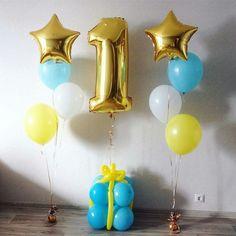 Jungle Theme Birthday, Baby Boy 1st Birthday Party, Birthday Party Themes, First Birthday Balloons, 1st Birthday Photoshoot, Balloon Shop, Birthday Balloon Decorations, Helium Balloons, Balloon Bouquet