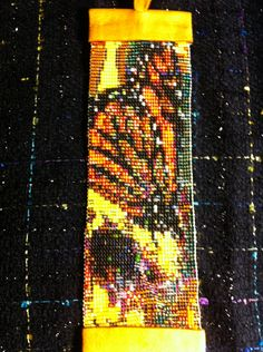 Native American LoomBeaded Butterfly landing by MichelesMenagerie2