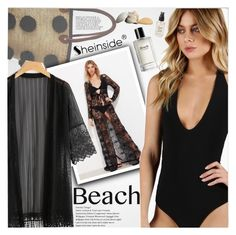 """""""Sun's Out: Beach Day"""" by vanjazivadinovic ❤ liked on Polyvore featuring Soeur Du Maroc, Bobbi Brown Cosmetics, Olivine, beachday, Sheinside, stripedpants and polyvoreeditorial"""