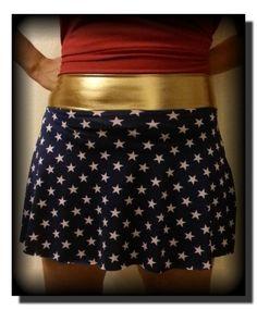 Misses Wonder Women Inspired Running Skirt by LilyBombAthleticWear, $25.00