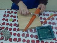 The Moveable Alphabet: Carrot Work - Washing, Peeling, Cutting and Serving