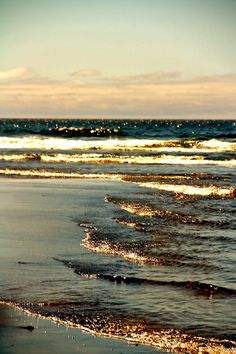 The moment when the sun is just touching the tips of the waves is my absolute favorite time of the day. The golden glow...the shimmering waves...the stretching sunshine rays... <3 This is what I love.