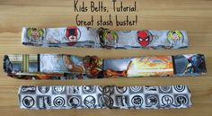 Kids belt tutorial, quick, easy and a great stash buster!