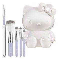 Sephora: Hello Kitty : Mon Amour Brush Set : brush-sets-makeup-brushes-applicators-makeup from Sephora. Hello Kitty Makeup, Hello Kitty Items, Sanrio Hello Kitty, Sephora, Princess Kitty, Beauty Brushes, Brush Sets, Here Kitty Kitty, Makeup Brush Set