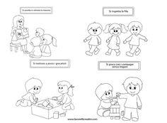Regole scolastiche con disegni