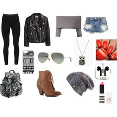 Untitled #2 by carathomson-1 on Polyvore featuring polyvore, fashion, style, Dorothee Schumacher, H&M, Peace of Cloth, One Teaspoon, Mojo Moxy, Aéropostale, Ray-Ban, Spacecraft, CellPowerCases, PhunkeeTree and Topshop